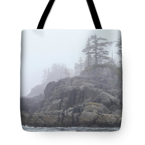 West Coast Landscape Ocean Fog I Tote Bag