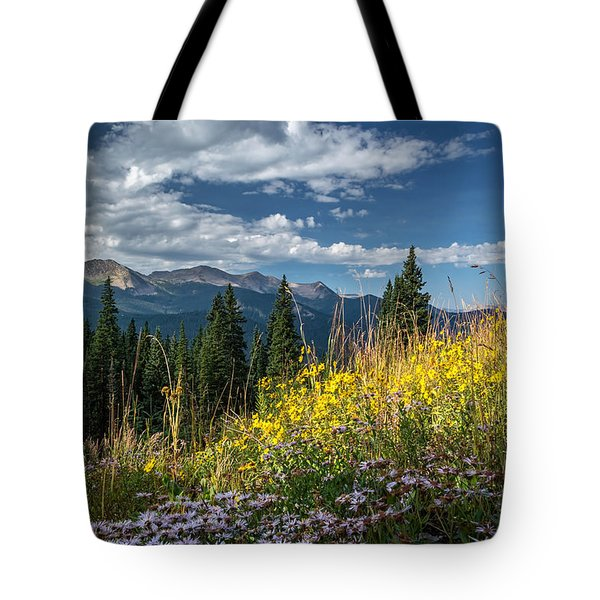 West Elk Mountain Range Tote Bag