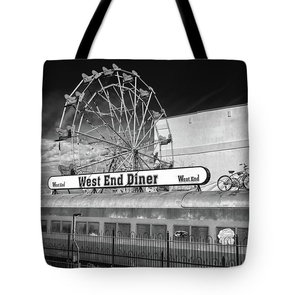 Tote Bag featuring the photograph West End Diner by James Barber