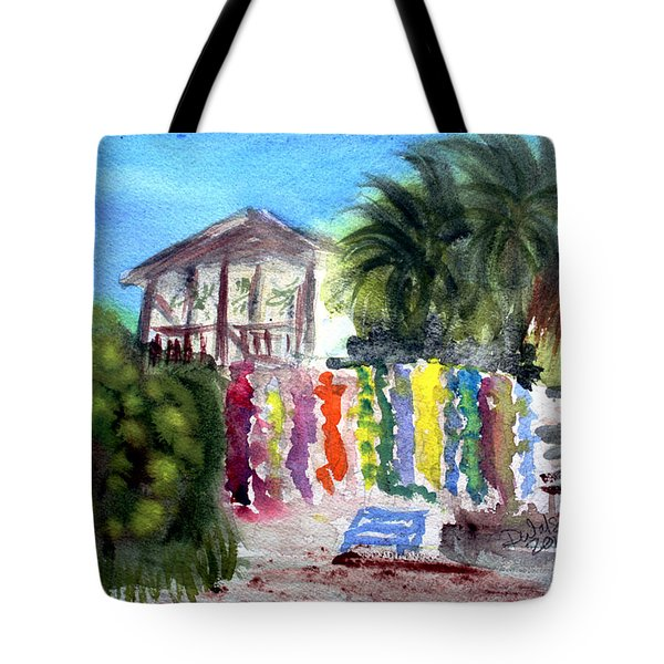 Tote Bag featuring the painting West End Market by Donna Walsh