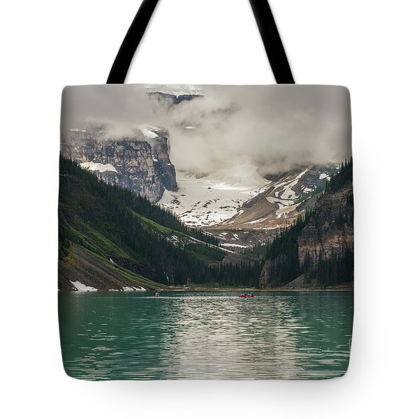 West End Of Lake Louise Tote Bag