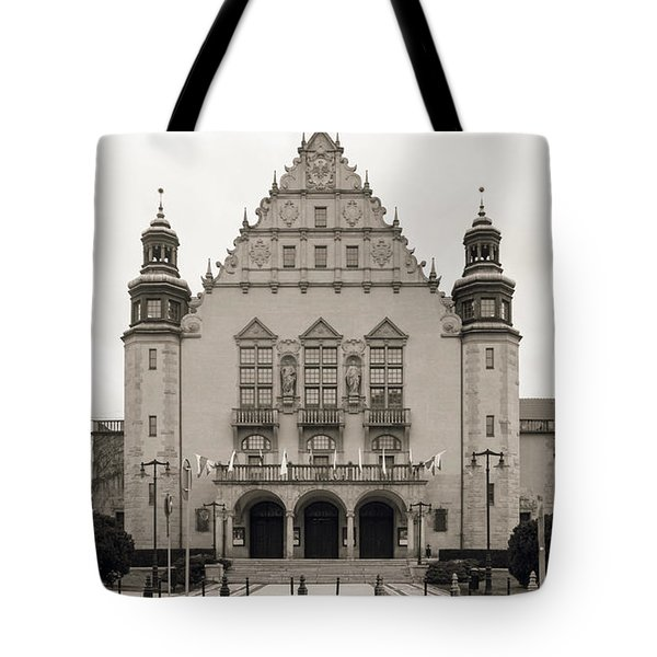 West Facade Of Adam Mickiewicz University Poznan Poland Tote Bag