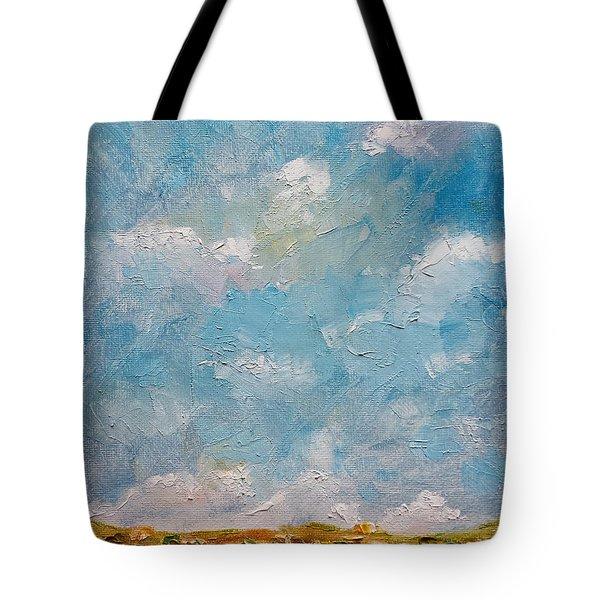 Tote Bag featuring the painting West Field Seedlings by Judith Rhue