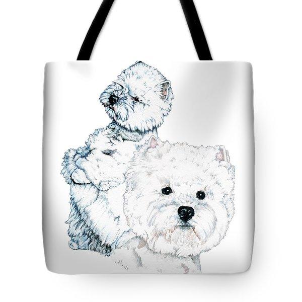 West Highland White Terriers Tote Bag by Kathleen Sepulveda