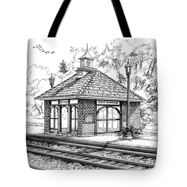 West Hinsdale Train Station Tote Bag