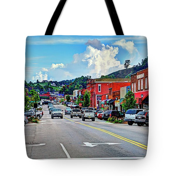 West Jefferson Streetscape Tote Bag by Dale R Carlson