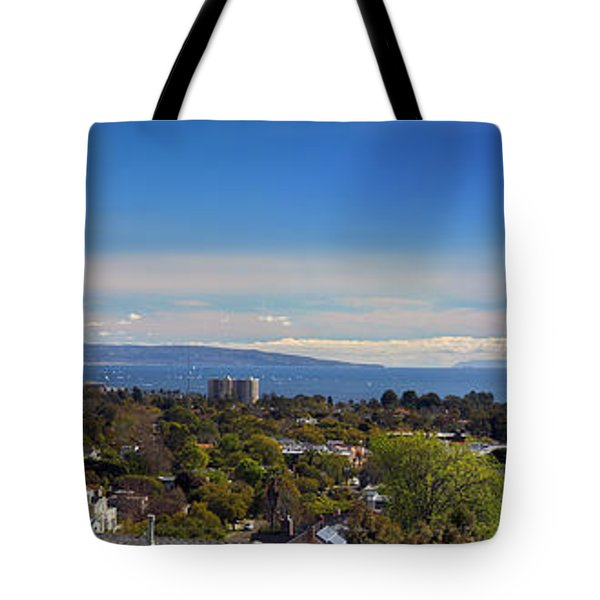 West La And Catalina Island From Pacific Palisades Tote Bag