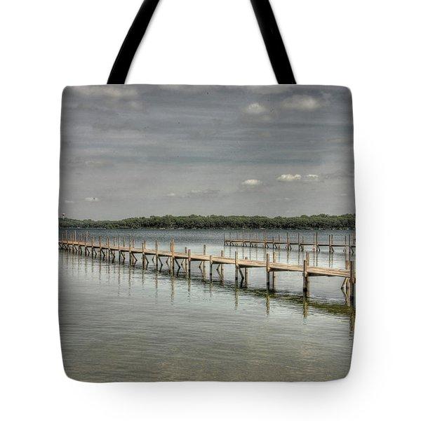 West Lake Docks Tote Bag