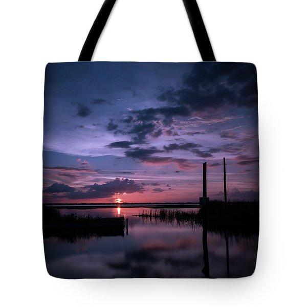 West Lake Toho Blu Indigo Sunset Tote Bag