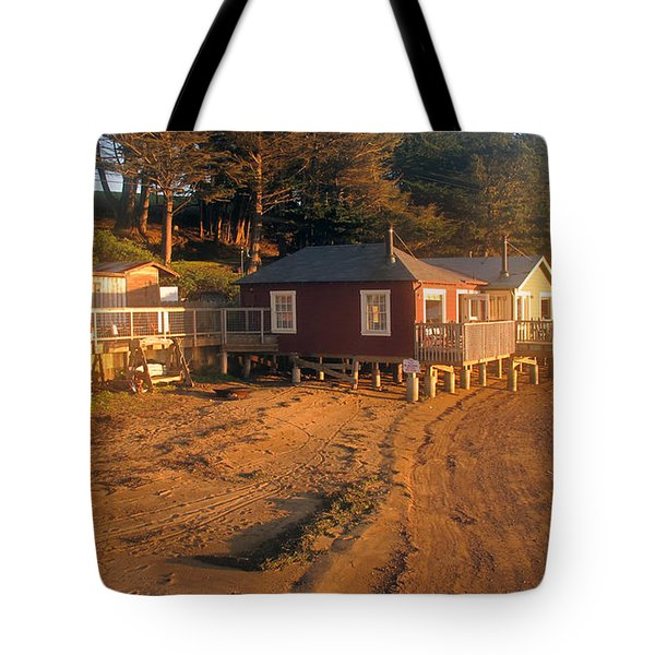 West Marin Nick's Cove Cottages Tote Bag