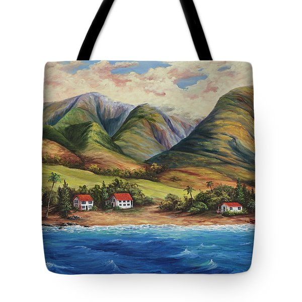 Tote Bag featuring the painting West Maui Living by Darice Machel McGuire