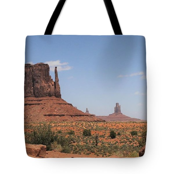 West Mitten Butte Monument Valley Tote Bag