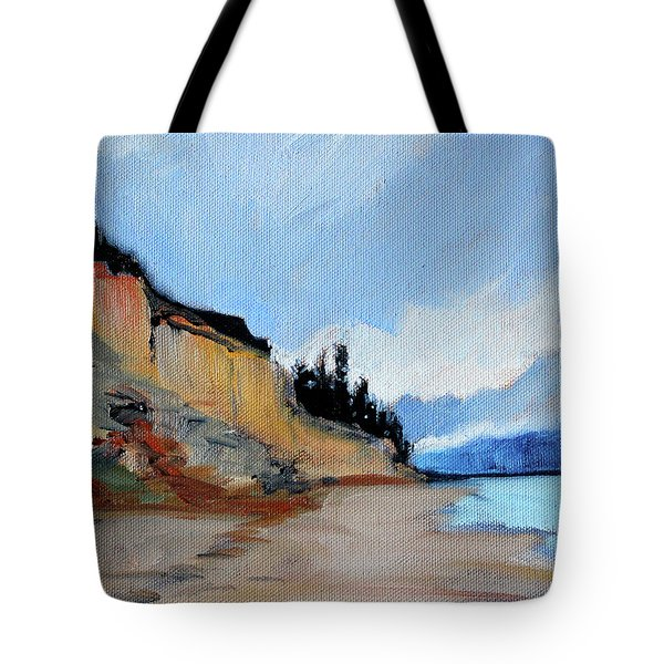 Tote Bag featuring the painting West Of Dungeness by Nancy Merkle