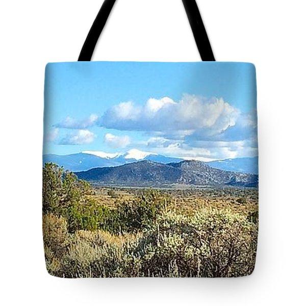 West Of Taos Tote Bag by Brenda Pressnall