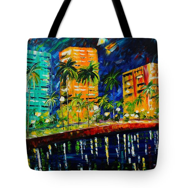 West Palm At Night Tote Bag