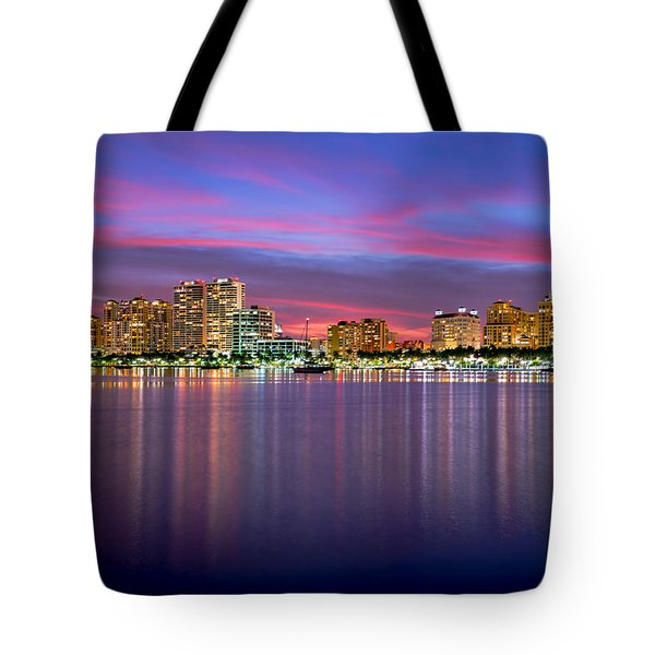 West Palm Sunset Tote Bag