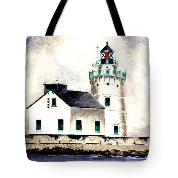 West Pierhead Lighthouse Tote Bag by Michael Vigliotti