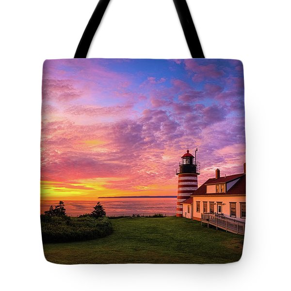 West Quoddy Head Light Tote Bag
