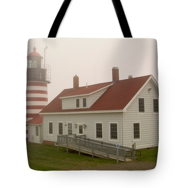 West Quoddy In Fog Tote Bag