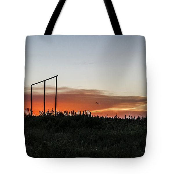 Tote Bag featuring the photograph West Texas Sunset by Karen Slagle