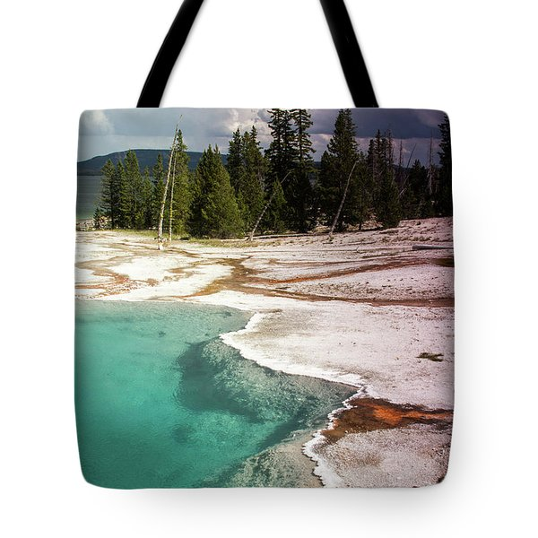 Tote Bag featuring the photograph West Thumb Geyser Pool by Dawn Romine