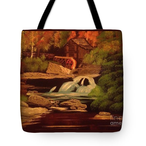 West Virginia Grist Mill Tote Bag by Tim Blankenship