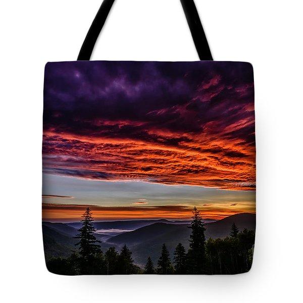 West Virginia Highland Dawn Tote Bag
