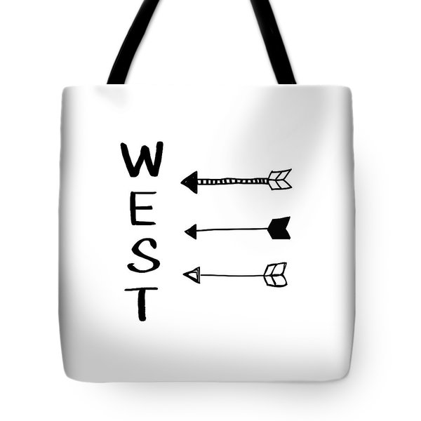 West With Arrows- Art By Linda Woods Tote Bag