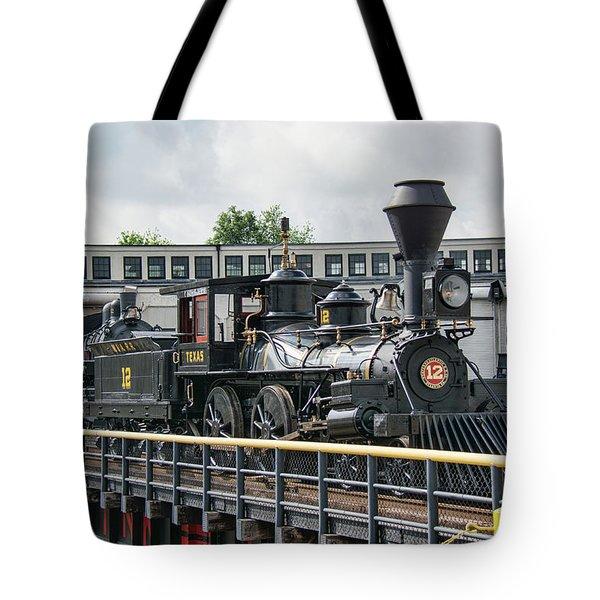 Western And Atlantic 4-4-0 Steam Locomotive Tote Bag by John Black