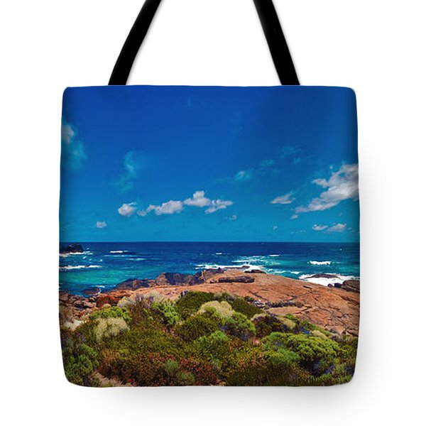 Tote Bag featuring the photograph Western Australia Beach Panorama by David Zanzinger