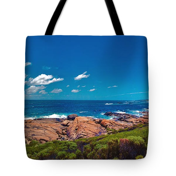 Tote Bag featuring the photograph Western Australia Beach Panorama Margaret River by David Zanzinger