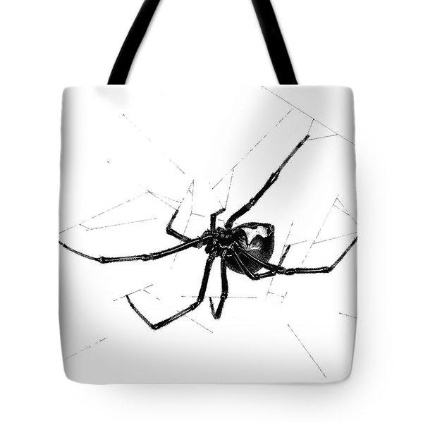Western Black Widow Tote Bag