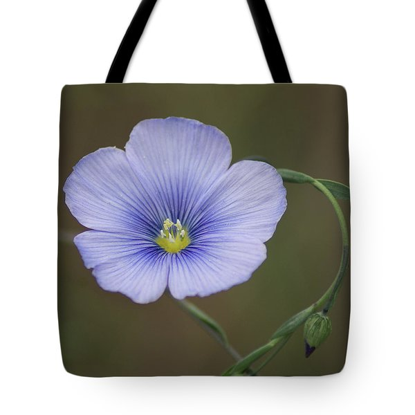 Tote Bag featuring the photograph Western Blue Flax by Ben Upham III