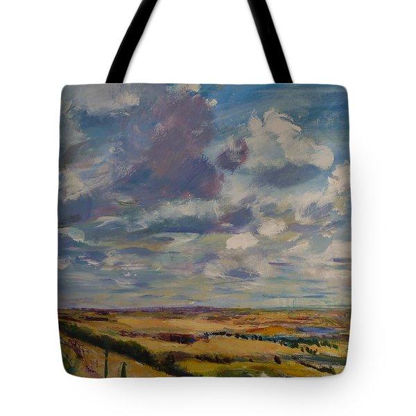 Skies Westward Tote Bag by Helen Campbell