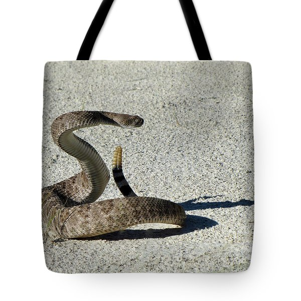 Western Diamondback Rattlesnake Tote Bag by Skeeze