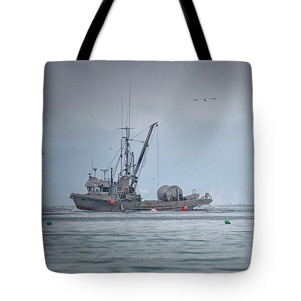 Western Gambler And Marinet Tote Bag by Randy Hall