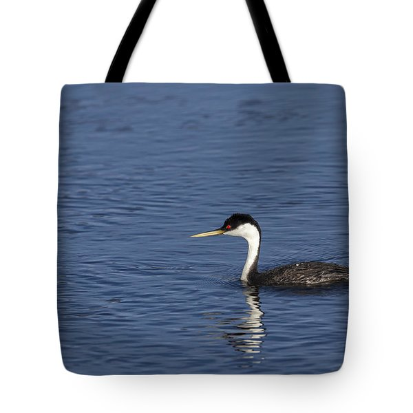Western Grebe In Late Afternoon Light Tote Bag