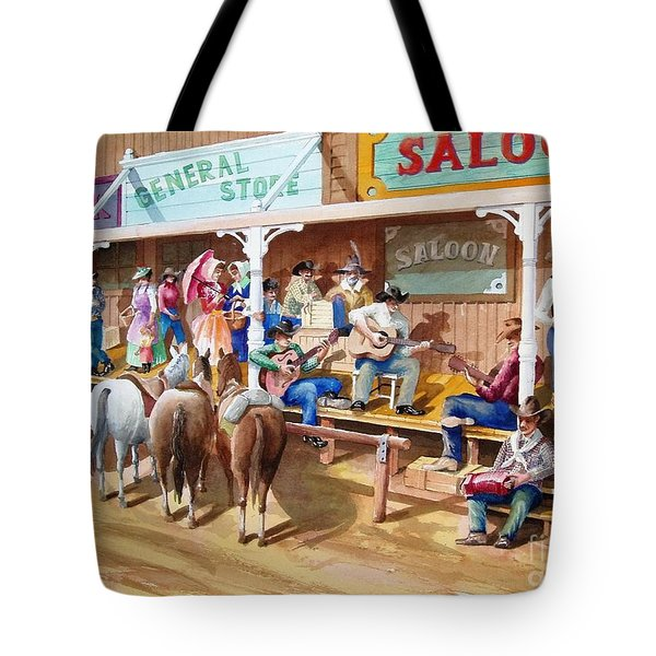 Western Jam Session Tote Bag by Charles Hetenyi