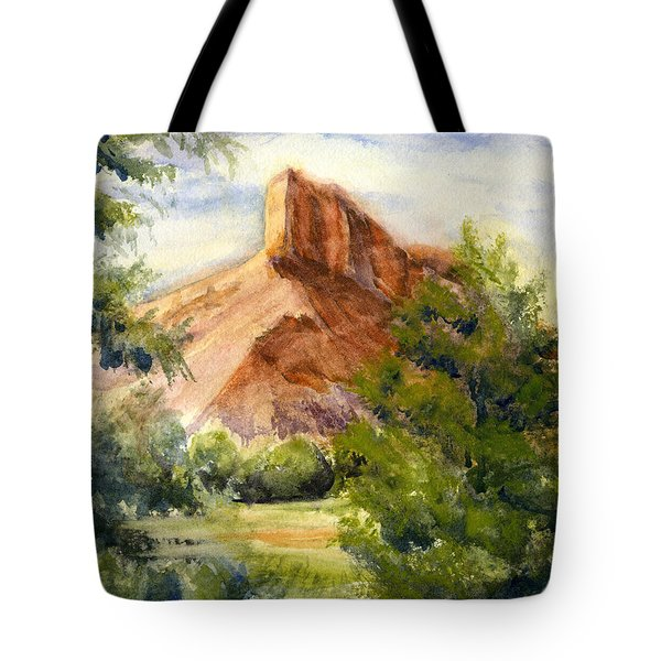 Western Landscape Watercolor Tote Bag