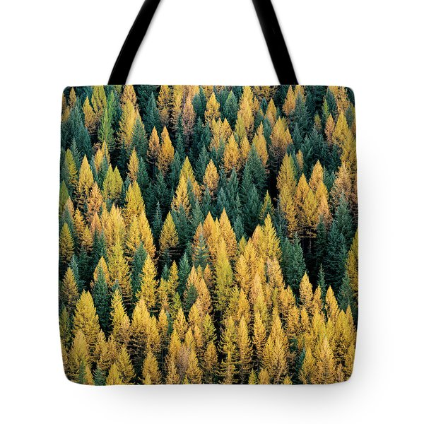 Western Larch Forest Tote Bag
