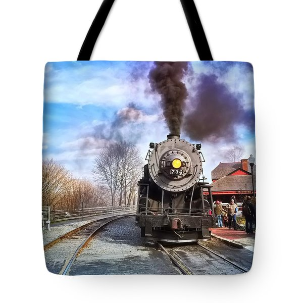 Western Maryland Steam Engine Tote Bag