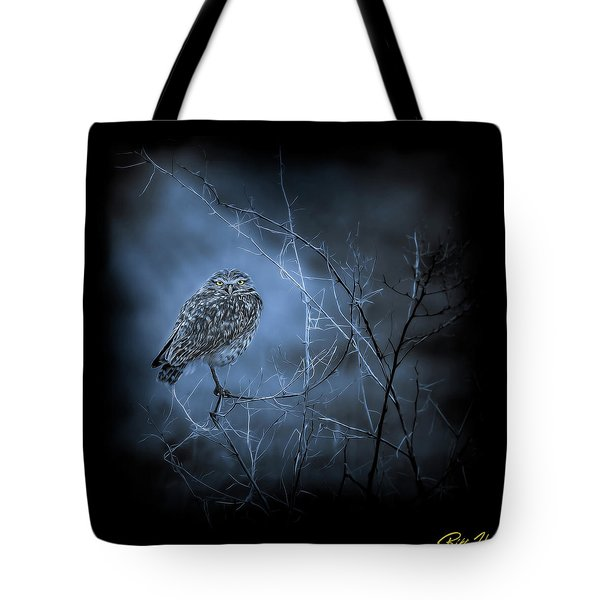 Tote Bag featuring the photograph Western Owl Gloom by Rikk Flohr