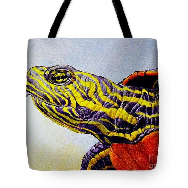 Western Painted Turtle Tote Bag