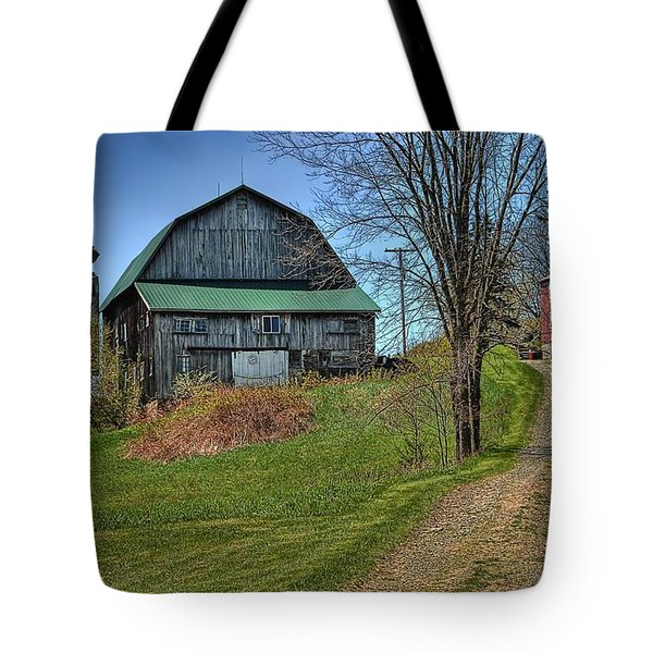 Western Pennsylvania Country Barn Tote Bag by Dyle   Warren