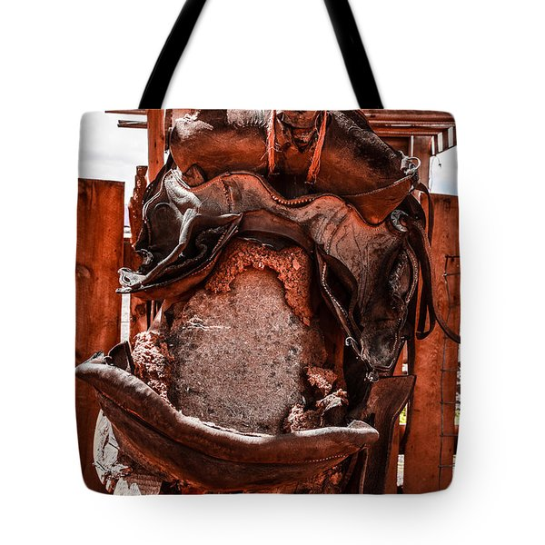 Tote Bag featuring the photograph Western Saddle by Dany Lison