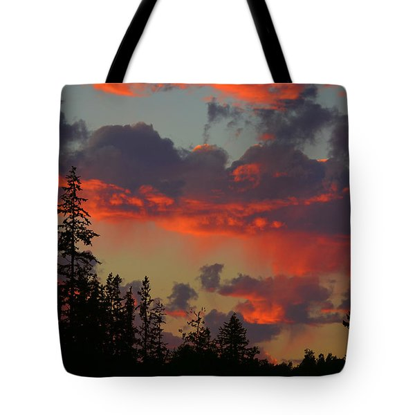 Western Sky Fire Tote Bag