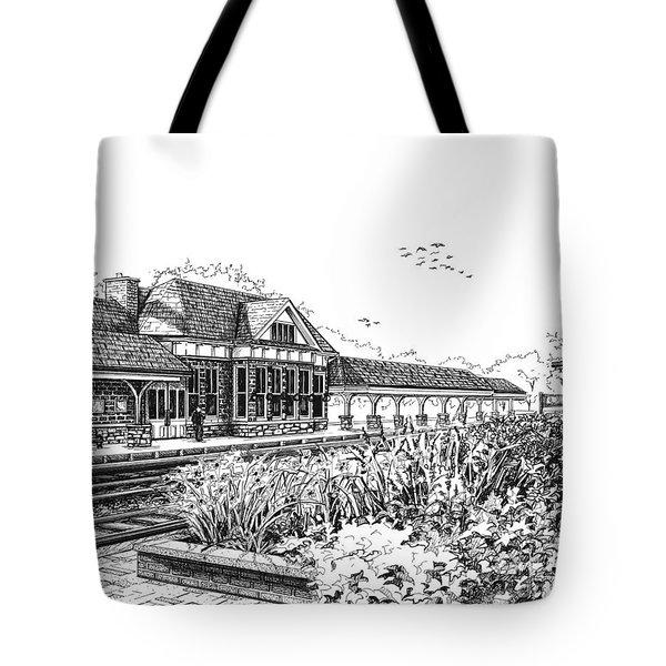 Western Springs Train Station Tote Bag