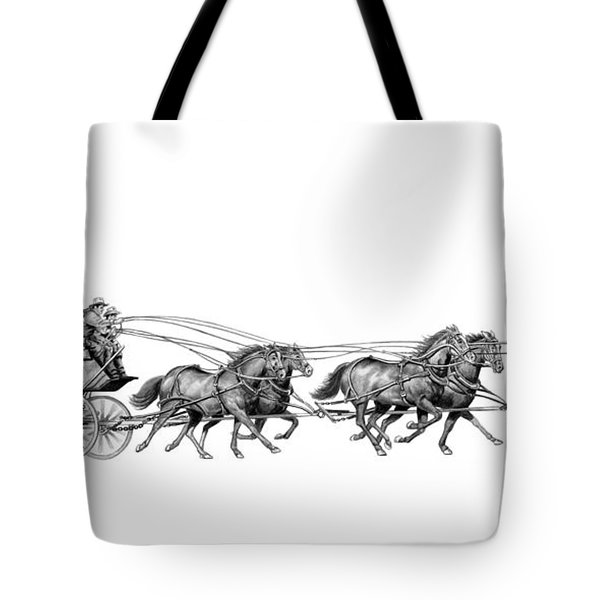 Western Stagecoach Tote Bag