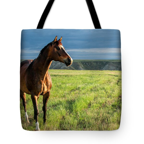Western Stallion Tote Bag