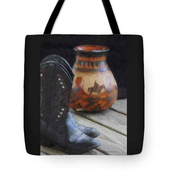 Tote Bag featuring the photograph Western Still Life by Kenny Francis